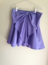 ValleyGirl Size 12 Purple Bow Detail Skirt, Like New