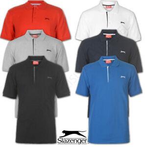 Mens Polo Shirt Slazenger Top Tennis Sports T Shirt Tee M L XL XXL Medium Large