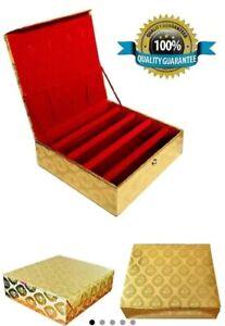 Gold Red Bangle box Indian 4 Roll Bar Bangle Storage Box Indian Jewellery box