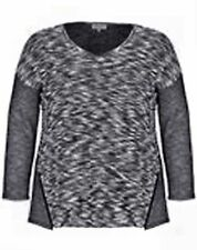 Scoop Neck Textured Thin Knit Jumpers & Cardigans for Women