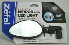 New Zefal LED Cyclops Universal Mount Bicycle Mirror with Lighted LED Bike