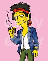 """The Simpsons (TV) Keith Richards """"The Rolling Stones"""" 10x8 Foto"""