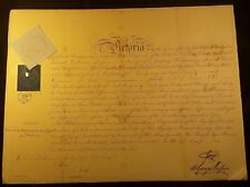 Queen Victoria Era Prince George Signed Autograph on Warrant Document - 1865