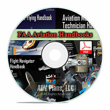 Airplane Helicopter Flight Manuals FAA Pilot's & Mechanics Handbooks, DVD CD F14