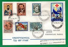 Greece. Red Cross 1959, RRR UNOFFICIAL FDC, Henry Dynant, Aesculapius St. Basil.