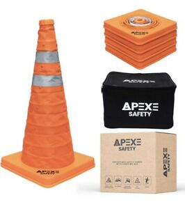 Apexes Safety Collapsible Traffic Cones (Still In Plastic)
