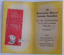 1950'S Advertisement Sewing Needle Pack Mennonite Mutual Insurance Assoc Ohio