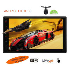 Android 10.0 7 Inch Double 2 Din Car Radio GPS Navigator Stereo with Rear Camera