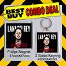 LANA DELREY ULTRAVIOLENCE  COMBO DEAL FRIDGE MAGNET /KEYRING-KEYCHAIN. CD COVER