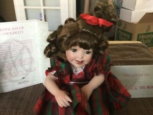 "Marie Osmond We Wish You A Merry Christmas 8"" Porcelain Tiny Tot Doll"
