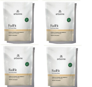 ARBONNE Combo 4 - FeelFit Pea Protein Shake-Vanilla   Chocolate  Flavor #2070