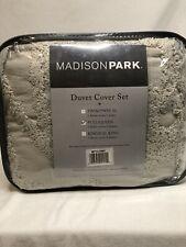 Madison Park Queen 3-Piece Cotton Chenille Medallion Duvet Cover Set Mp12-5982