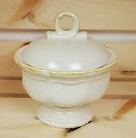 Mikasa Country Charm Sugar Bowl and Lid Mottled Beige FG000 Made in Japan 1980s