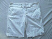 Old Navy shorts just below waist wht sz 18 stretch 11in bermuda wide waist MINT