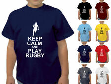Boys' Crew Neck Short Sleeve Sleeve Rugby T-Shirts, Tops & Shirts (2-16 Years)