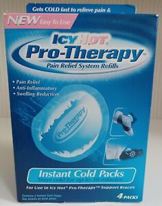 Icy Hot Pro-Therapy Instant Cold Packs Pain Relief System Refills 4 packs New