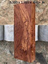 Dark Brown/Black Honduran Rosewood Stumpwood Hi-Figure Folding Knife Block