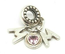 925 Sterling Silver Authentic Pandora ALE Dangle Mom Charm Bead