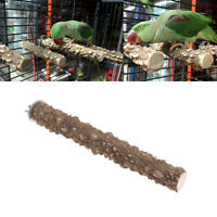 Bird Parrot Wooden Stand Holder Paw Grinding Perches Chew Pet Toy Hanging Cage./