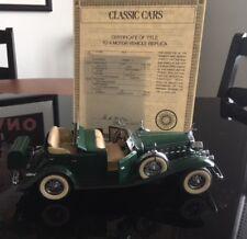 Danbury Mint 1932 Cadillac V-16 Sport Phaeton (Green) w/ Certificate of Title