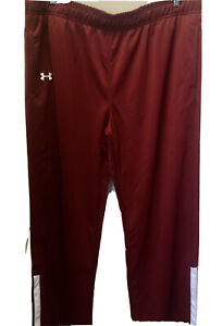 UNDER ARMOUR Women's XL Rival Knit Warm-Up Pants Red (12390919) MSRP $59.99 NEW