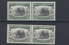 SOUTH  AFRICA  1949 - 54   S G 122 + 122B   2X 5/-  VALUES   MNH  CAT £90