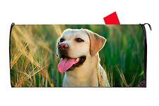 Yellow Labrador Retriever Dog Vinyl Magnetic Mailbox Cover  Made in the USA