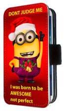 Minions Synthetic Leather Mobile Phone Flip Cases