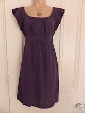 Pretty dark grey Topshop short sleeved viscose dress UK10, tie belt