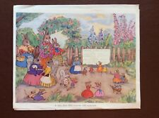 J1e Ephemera Book Plate Old Undated Woodland Animal Baby Show