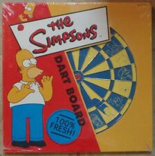 """The Simpsons 2-Sided Dart Board Set 15"""" by 15"""" NEW SEALED RINCO 2000"""