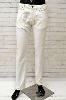 Pantalone Uomo MARINA YACHTING Taglia 46 Jeans Pants Cotone Gamba Dritta Bianco