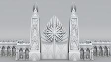 Warhammer Age of Sigmar-Décor impréssion 3D Porte de citadelle elfique