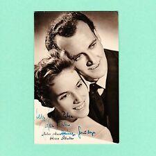 Ansichtskarte Autogramm Julia Axen & Heinz Schultze signiert Echt Foto DDR