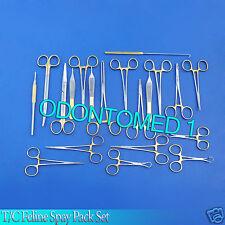 Set Of 22 Pcs Gold Handle Tc Feline Spay Pack Surgical Instruments Kit Ds 1065