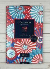 Rectangle Vinyl Tablecloth 52x70 Red White Blue Americana Stars Stripes
