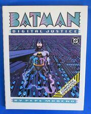 1990 BATMAN Digital Justice by Pepe Moreno 1st Printing HC/DJ VNM