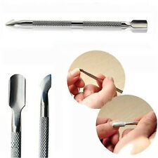 Stainless Steel Cuticle Nail Pusher Spoon Remover Manicure Pedicure Care Tool
