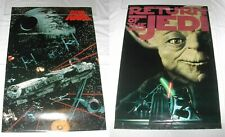 More details for star wars return of the jedi portal publications falcon & yoda 90's poster lot