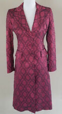 BEBE red brocade dress coat trench lightweight jacket small
