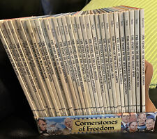 Vintage Lot Of 32 Cornerstones Of Freedom American History Books Hardcover Book