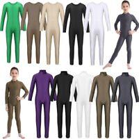 Girls Ballet Dance Gymnastics Leotard Dancewear Unitards Full Bodysuit Costume