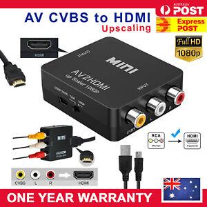 Composite AV CVBS 3RCA to HDMI Video Cable Converter 1080p Upscaling