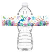 Mermaid Under the Sea Watercolor Bottle Wraps - 20 Under the Sea Water Bottle