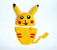 Pikachu Hat Wig And Diaper Cover - Halloween Costume - Cosplay Outfit