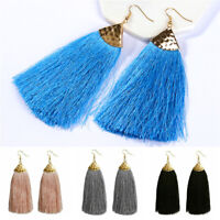 2019 Women's Fashion Boho Dangle Long Tassel Earrings Fringe Ear Drop Jewelry