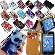 For Wiko SmartPhones Flip Leather Card Wallet Stand Cover Phone Case  + Strap