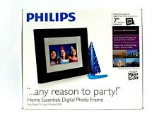 Phillips 7-Inch Digital Picture Frame Wood Panel Auto Rotate Clock Calendar