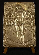 L'Ascension de Jésus christ plaque religieuse ancienne en étain religious plate