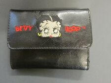 BETTY BOOP BLACK WALLET VERY NICE ZIPPER COIN PICTURES CREDIT CARD HOLDER 2004
